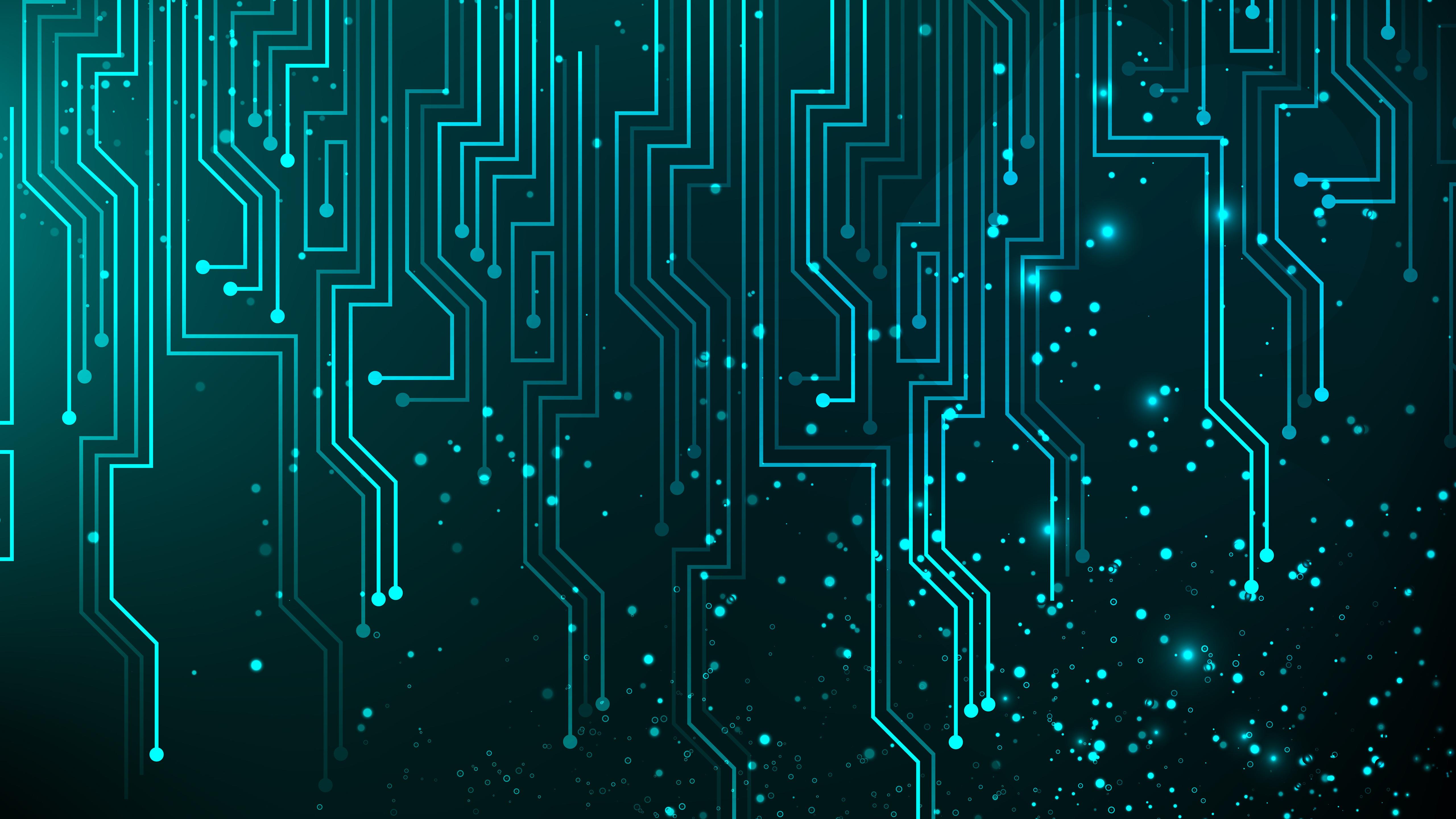 Digital Art Circuit Abstract Lines 5120x2880 5k Wallpaper