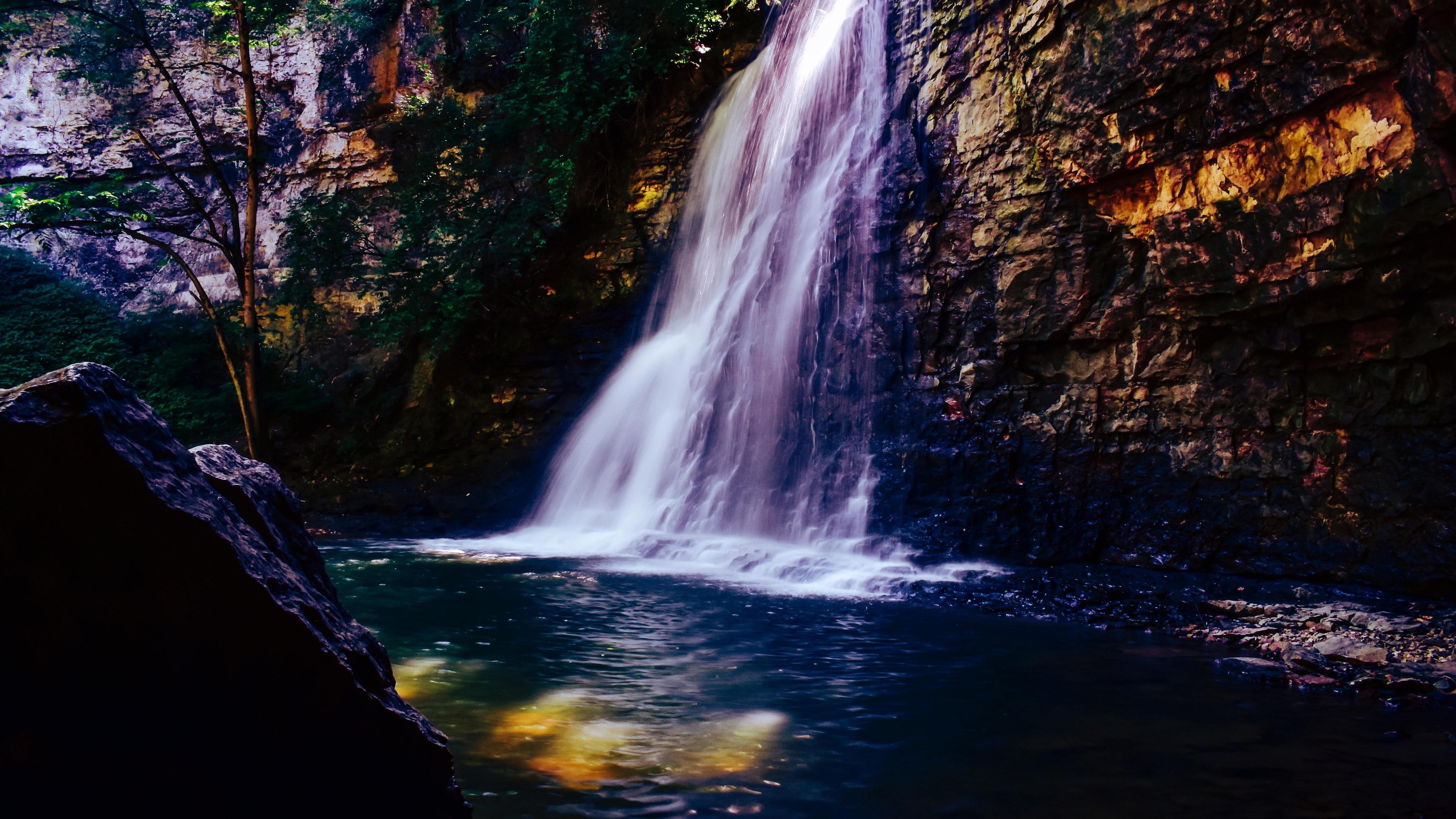 Nature Waterfall Water Current 5120x2880 5k Wallpaper