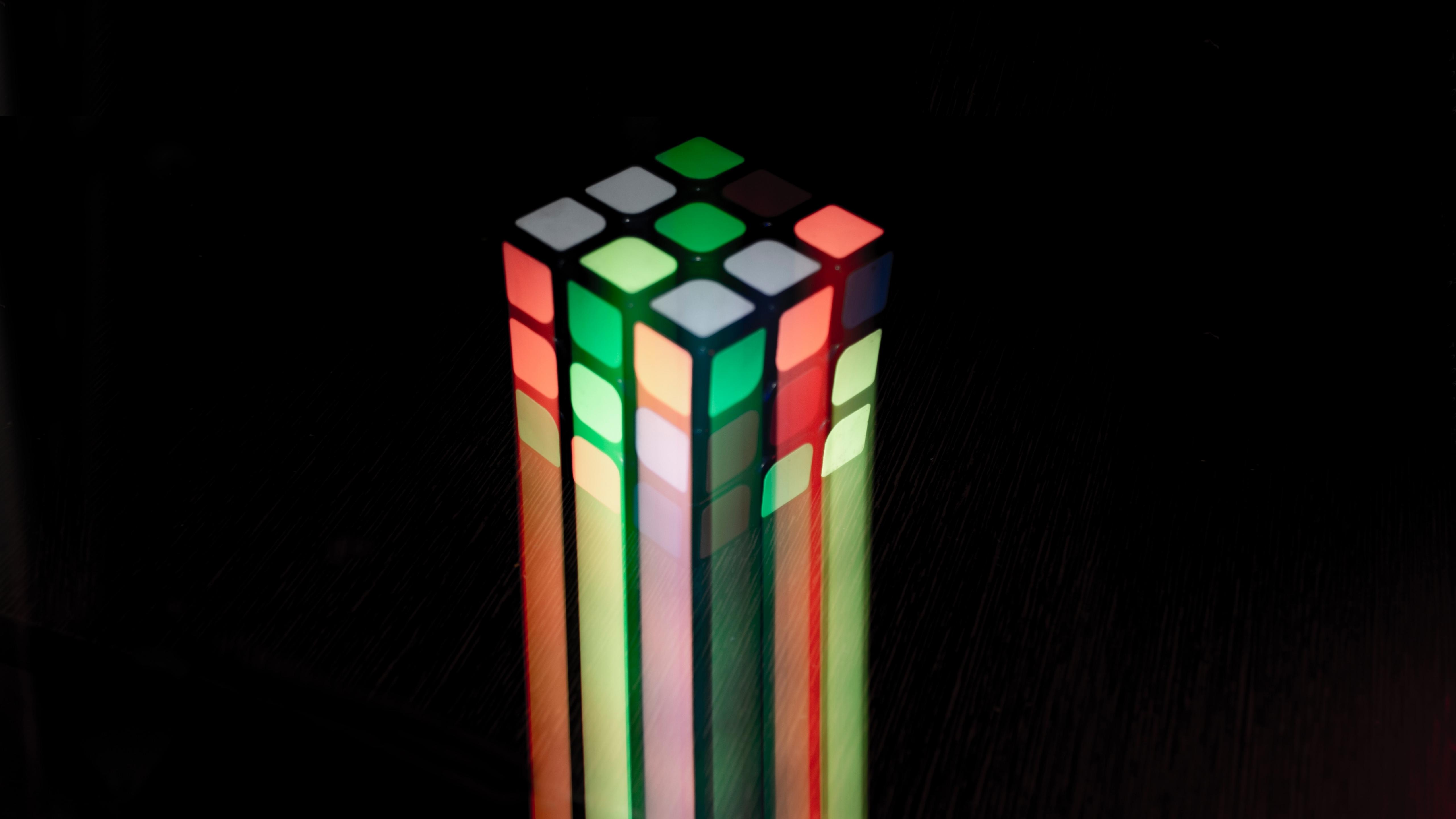 Download 5120x2880 Wallpaper Rubik S Cube Colorful Light