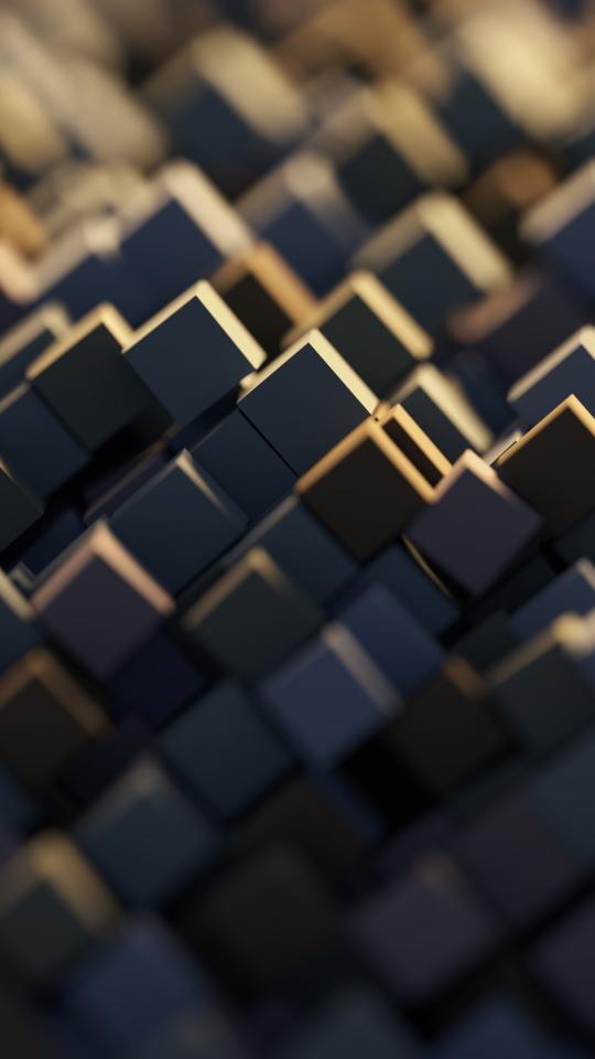 Download 540x960 Wallpaper 3d Cubes Digital Art Abstract Samsung