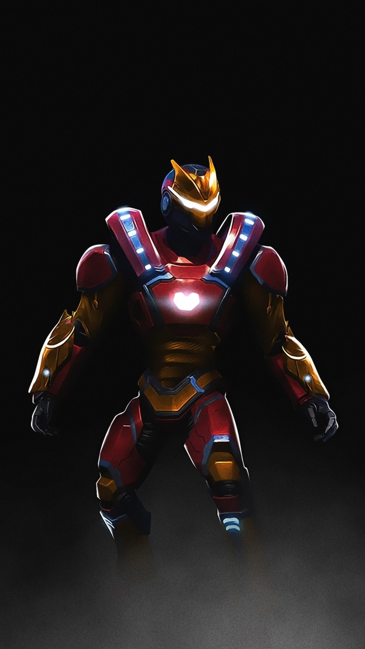Fortnite, Video Game, Iron Man Skin, Art, 720x1280 Wallpaper