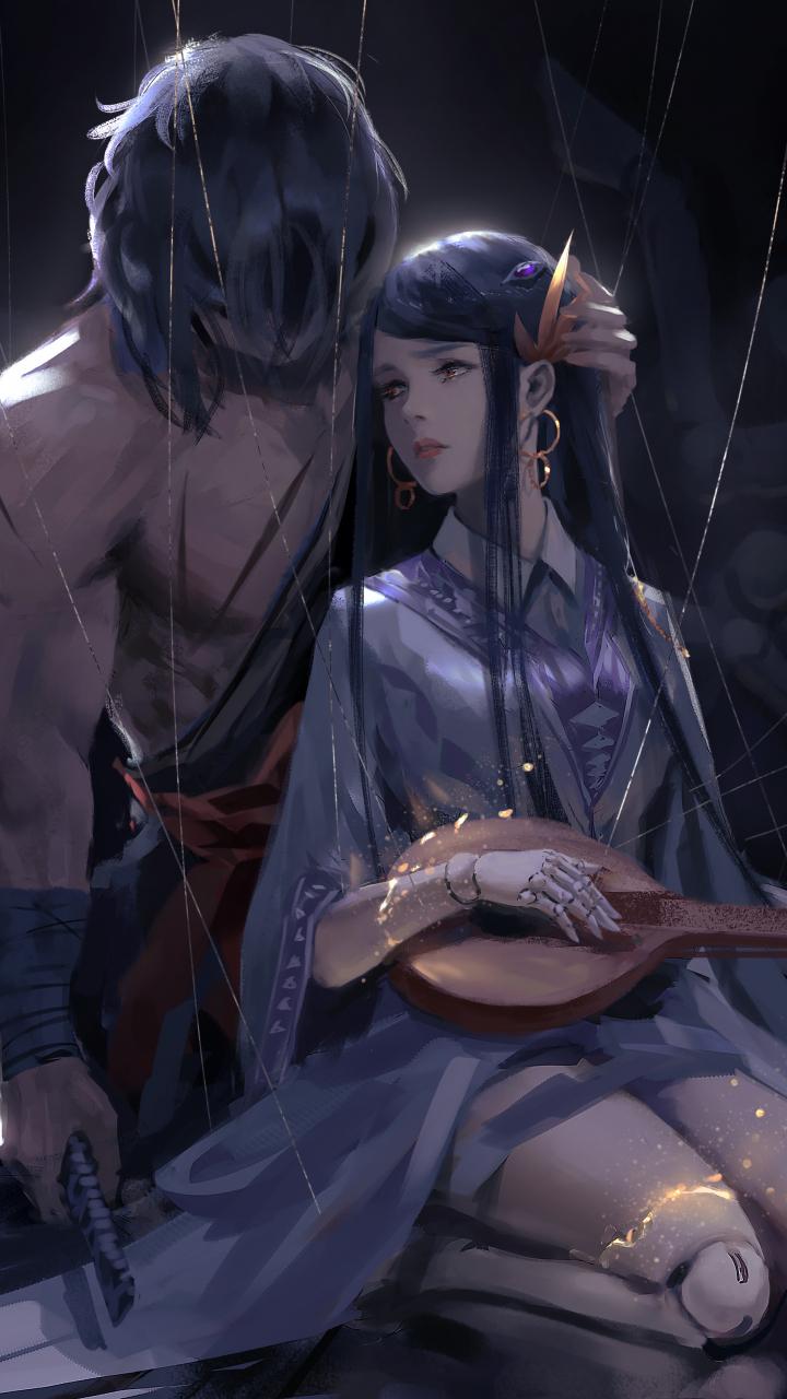 download 720x1280 wallpaper woman and warrior artwork
