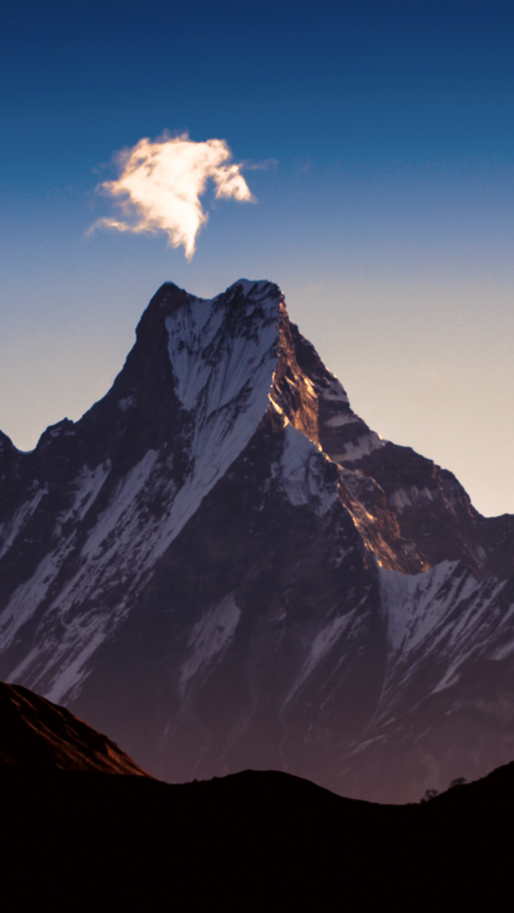 Download 720x1280 Wallpaper Dawn Sky Himalaya Mountains