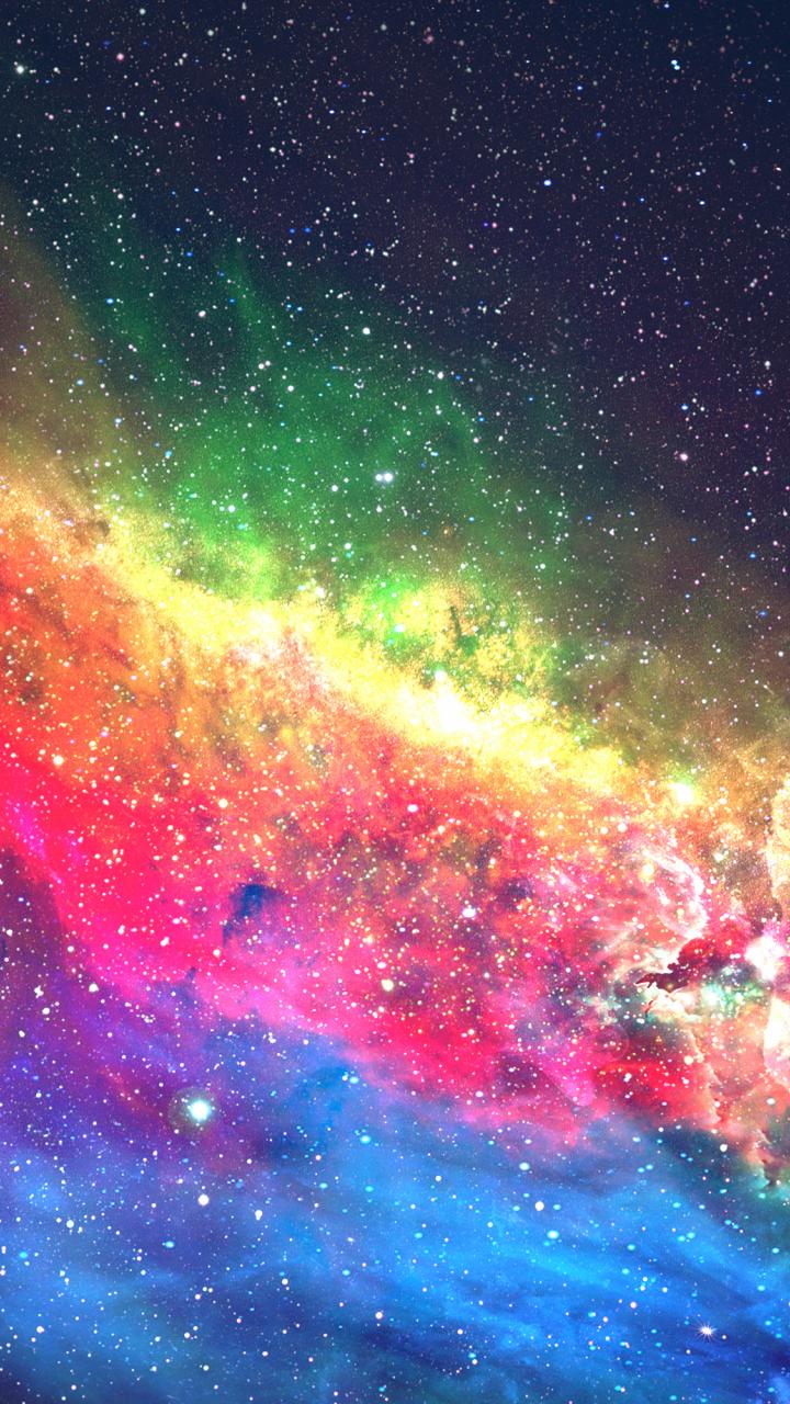 Download 720x1280 Wallpaper Colorful Galaxy Space Digital Art