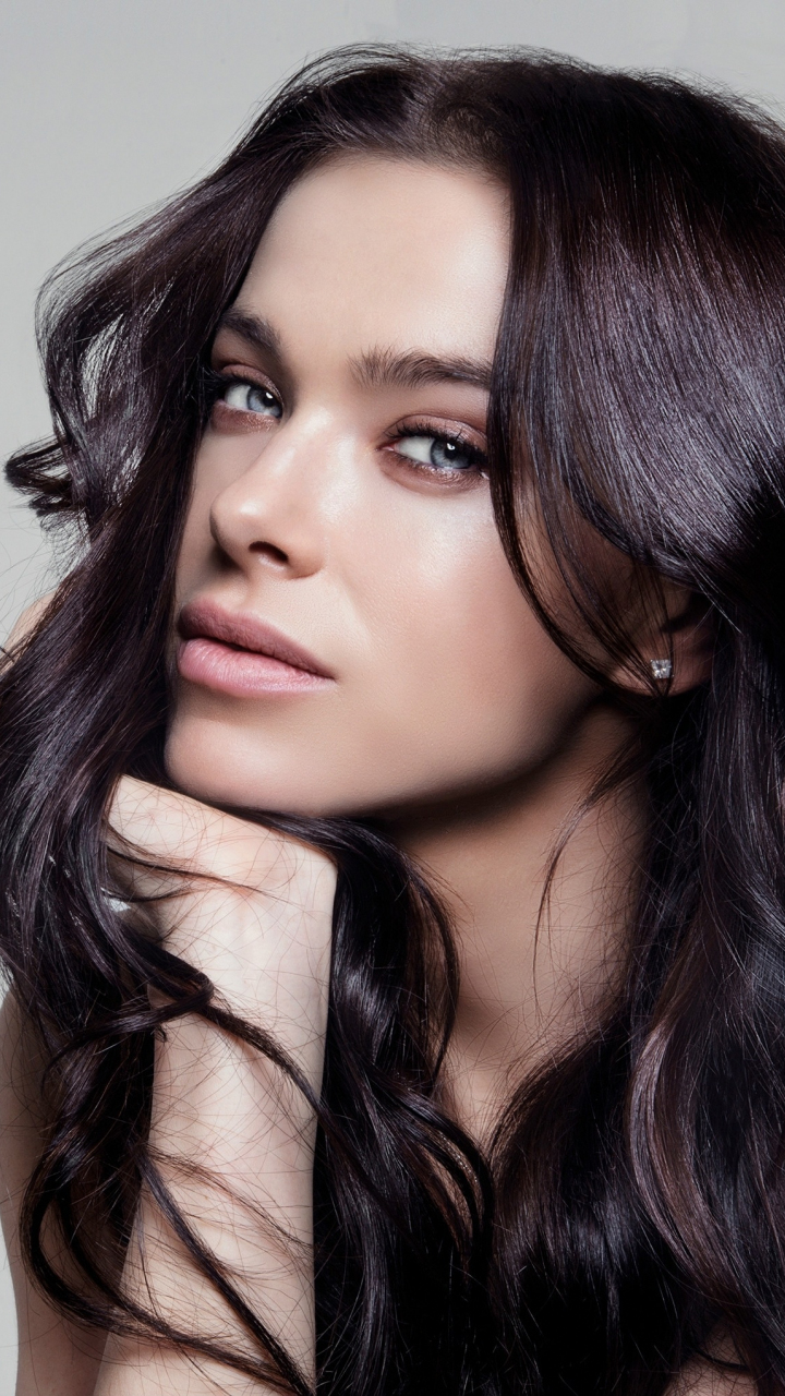 Celebrity, long hair, pretty, Elena Temnikova, 720x1280 wallpaper