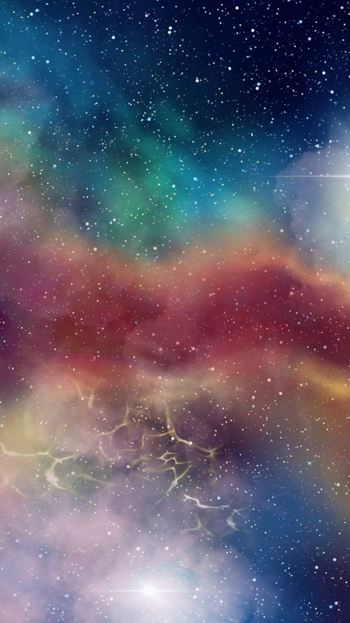 Download 720x1280 Wallpaper Galaxy Stars Clouds Space Colorful