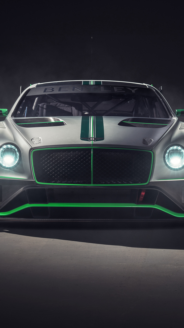 Bentley continental GT3, 2018 car, front, 720x1280 wallpaper