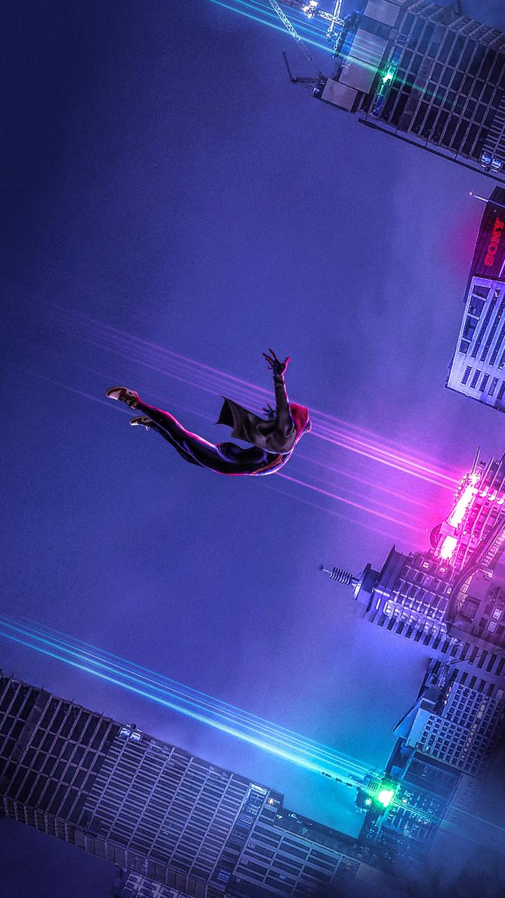 Download 720x1280 wallpaper spider dive movie artwork - New spiderman movie wallpaper ...