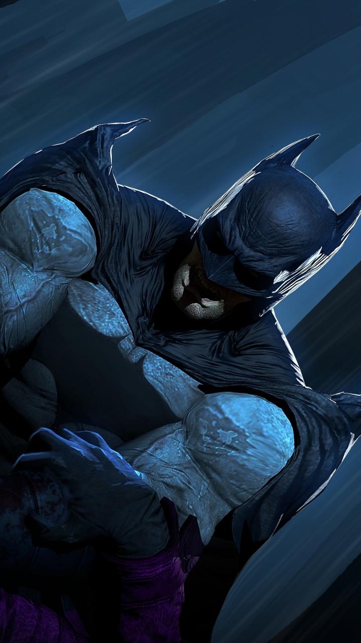 download 720x1280 wallpaper joker vs batman dc comics