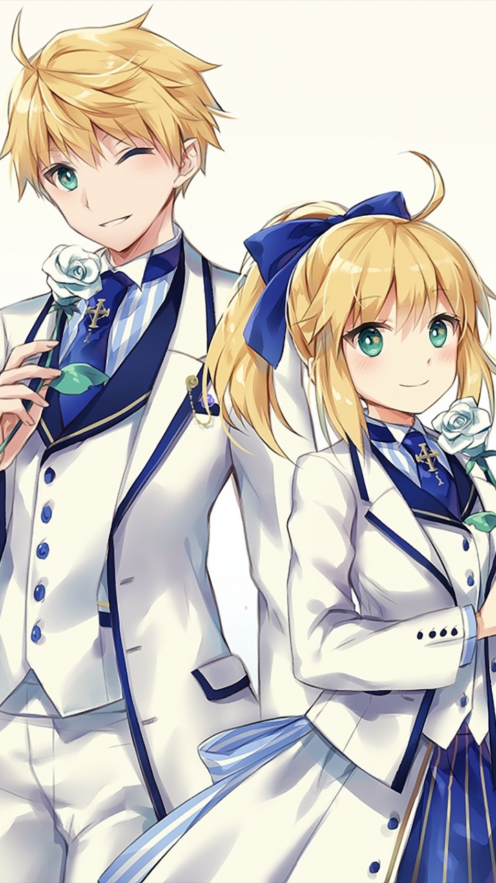 Fate Grand Order anime girl and boy suit