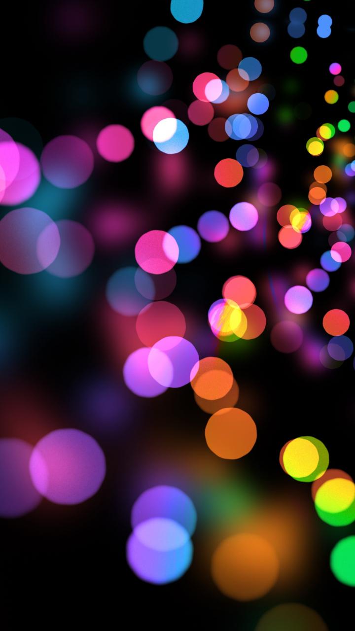 Party Lights Circles Colorful Bokeh 720x1280 Wallpaper