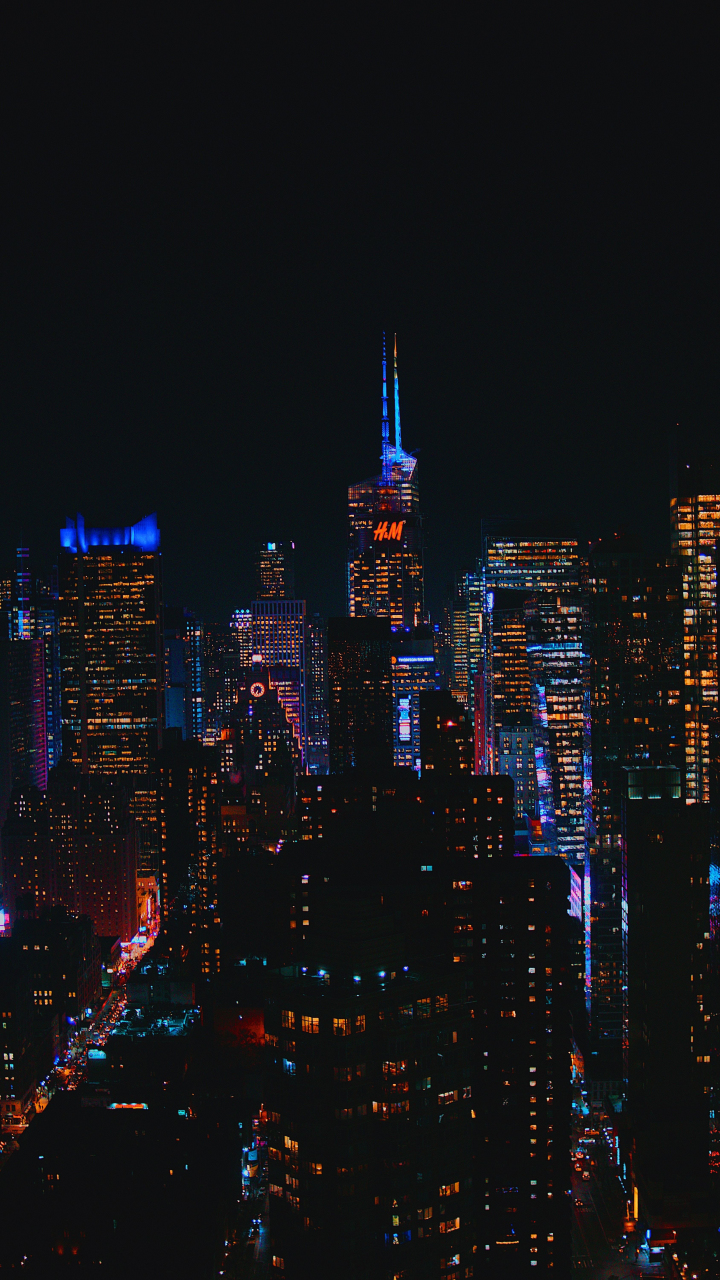Download 720x1280 Wallpaper Cityscape, Buildings, Dark