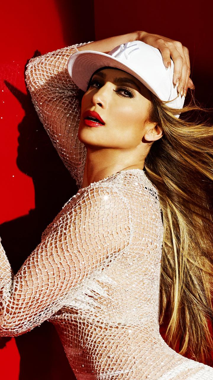 JLO, Jennifer Lopez, celebrity, white dress, 720x1280 wallpaper