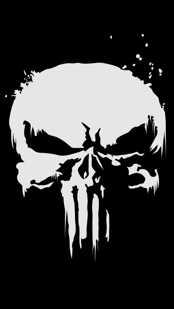 Download 720x1280 Wallpaper The Punisher Logo Skull Samsung