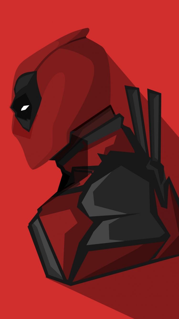 Download 750x1334 Wallpaper Deadpool Marvel Comics Minimal Iphone