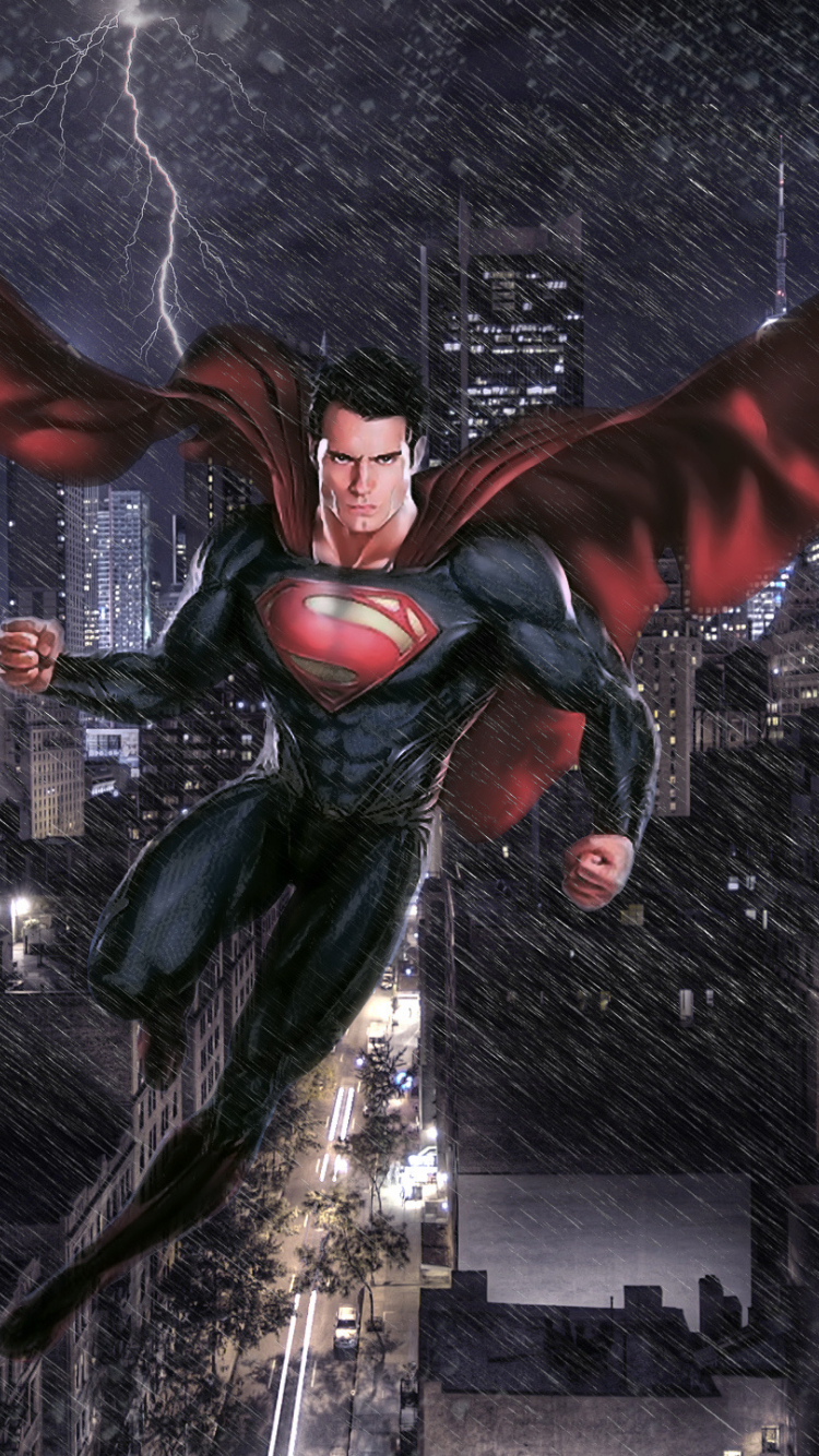 Download 750x1334 Wallpaper Man Of Steel Movie Superman Art