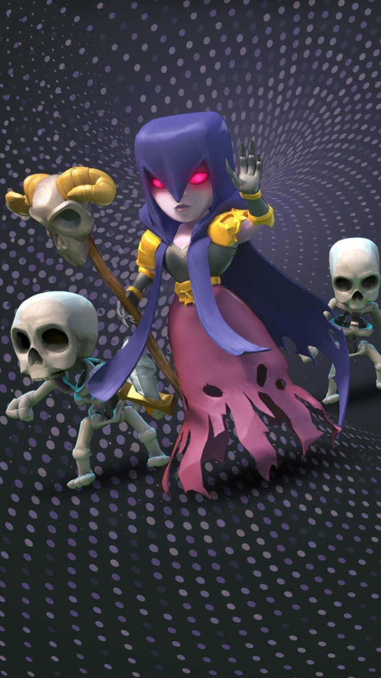 Download 750x1334 Wallpaper Witch Clash Of Clans Mobile Game