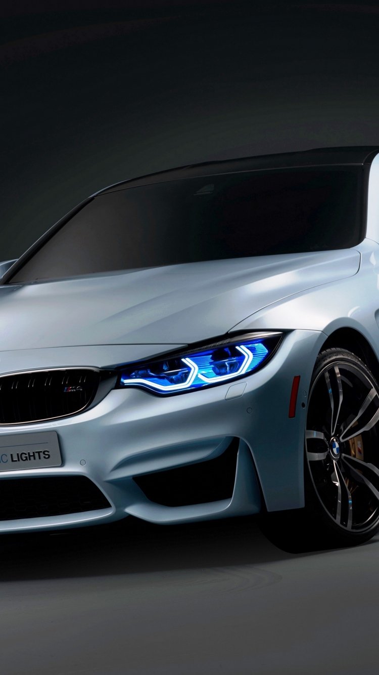 Download 750x1334 wallpaper bmw m4 iconic lights, front ...