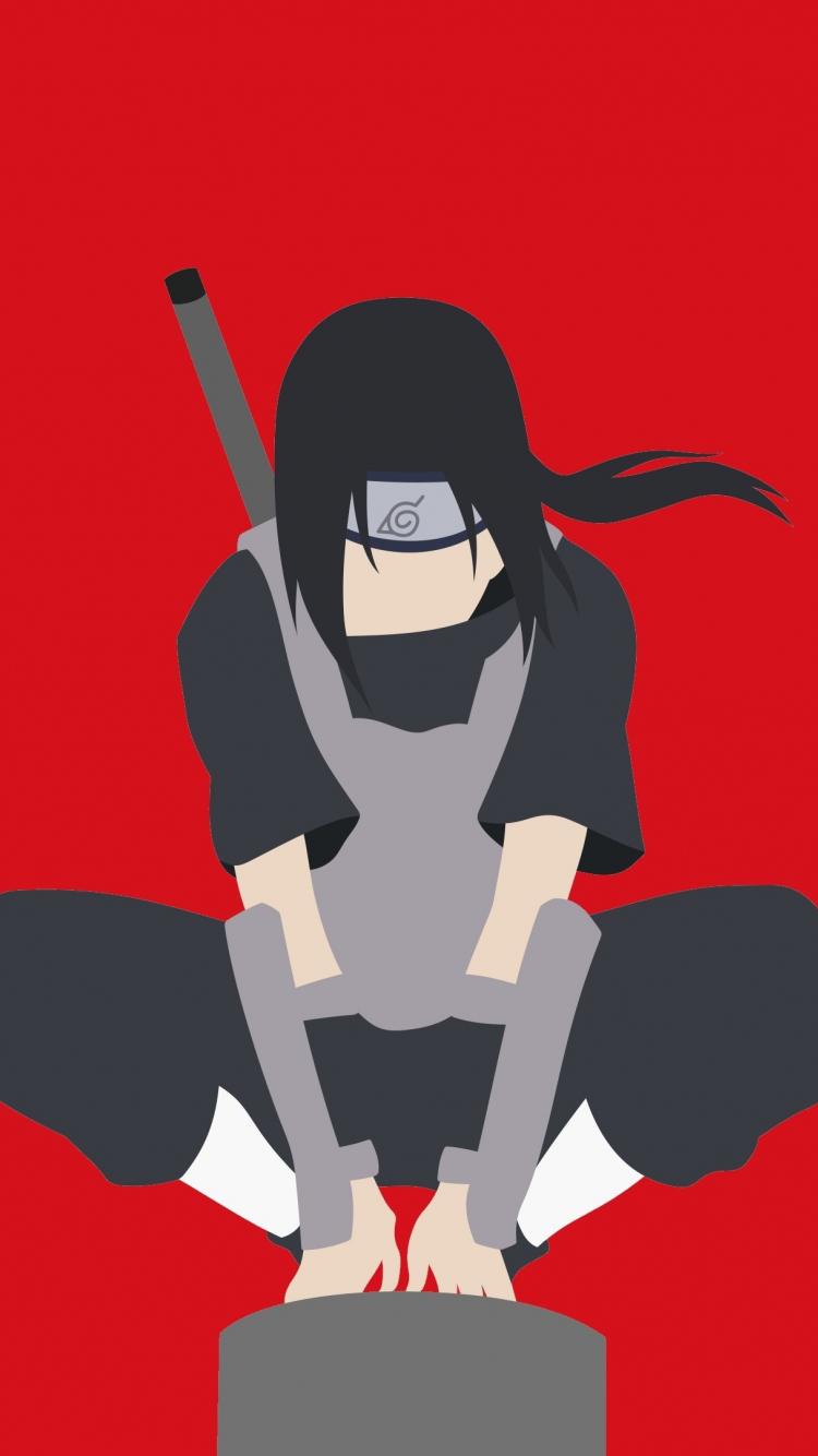 Download 750x1334 Wallpaper Minimal Warrior Naruto Itachi