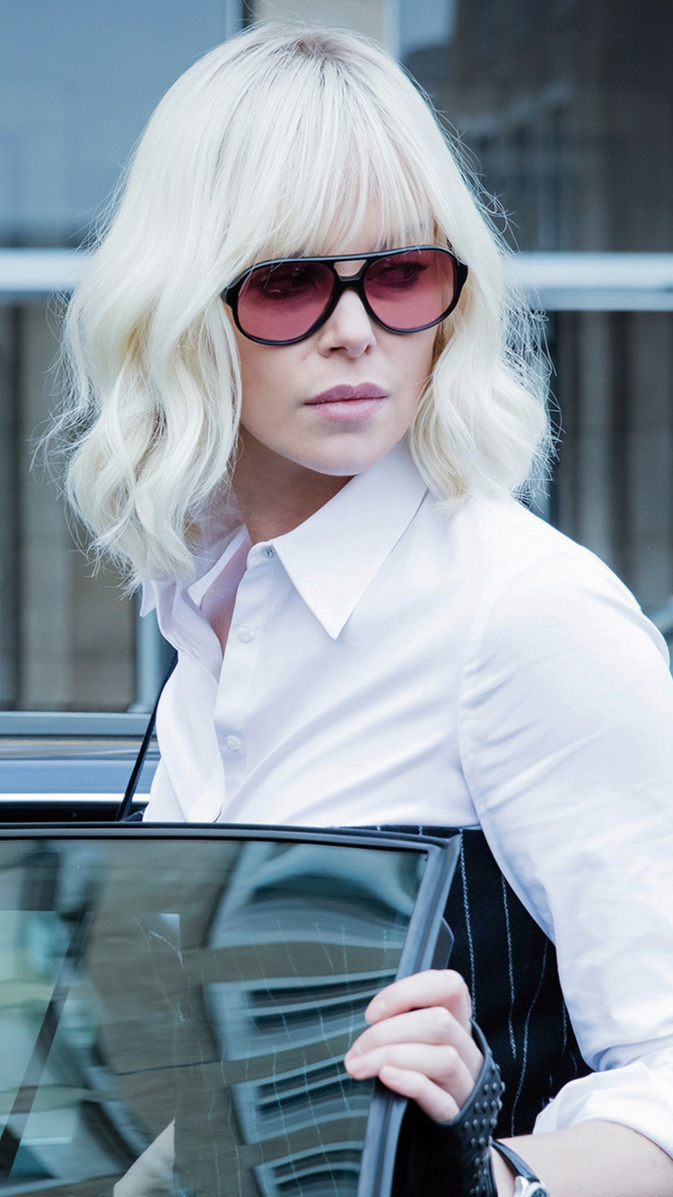 Atomic Blonde Charlize Theron Actress Sunglasses Movie 750x1334 Wallpaper