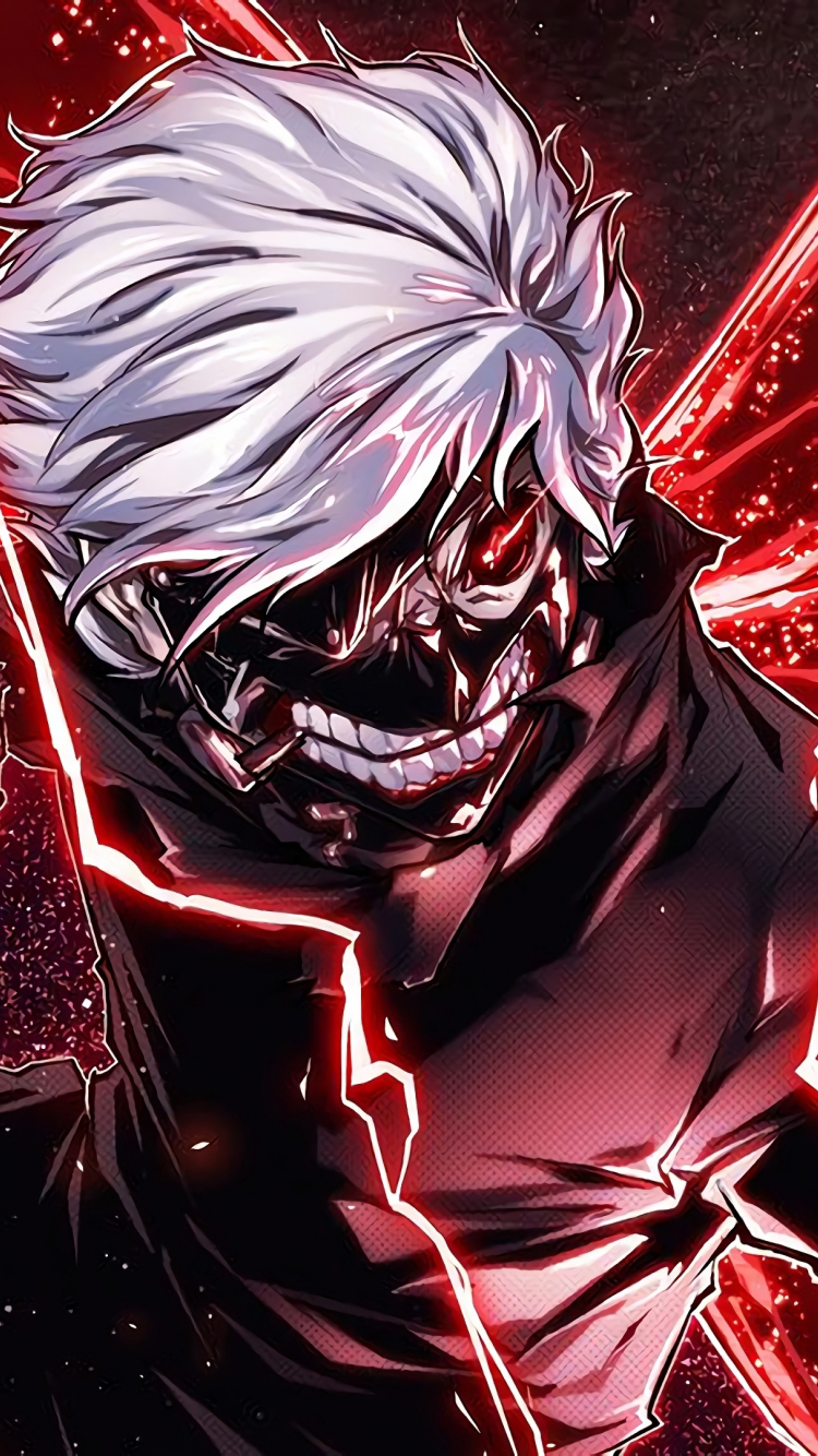 Download 750x1334 Wallpaper Ken Kaneki Angry Anime Boy