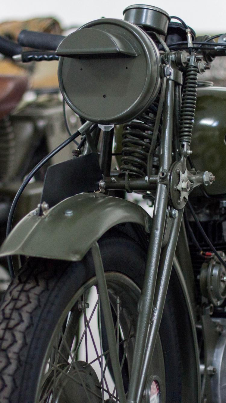 Vintage, retro, motorcycle, bike, front, 750x1334 wallpaper
