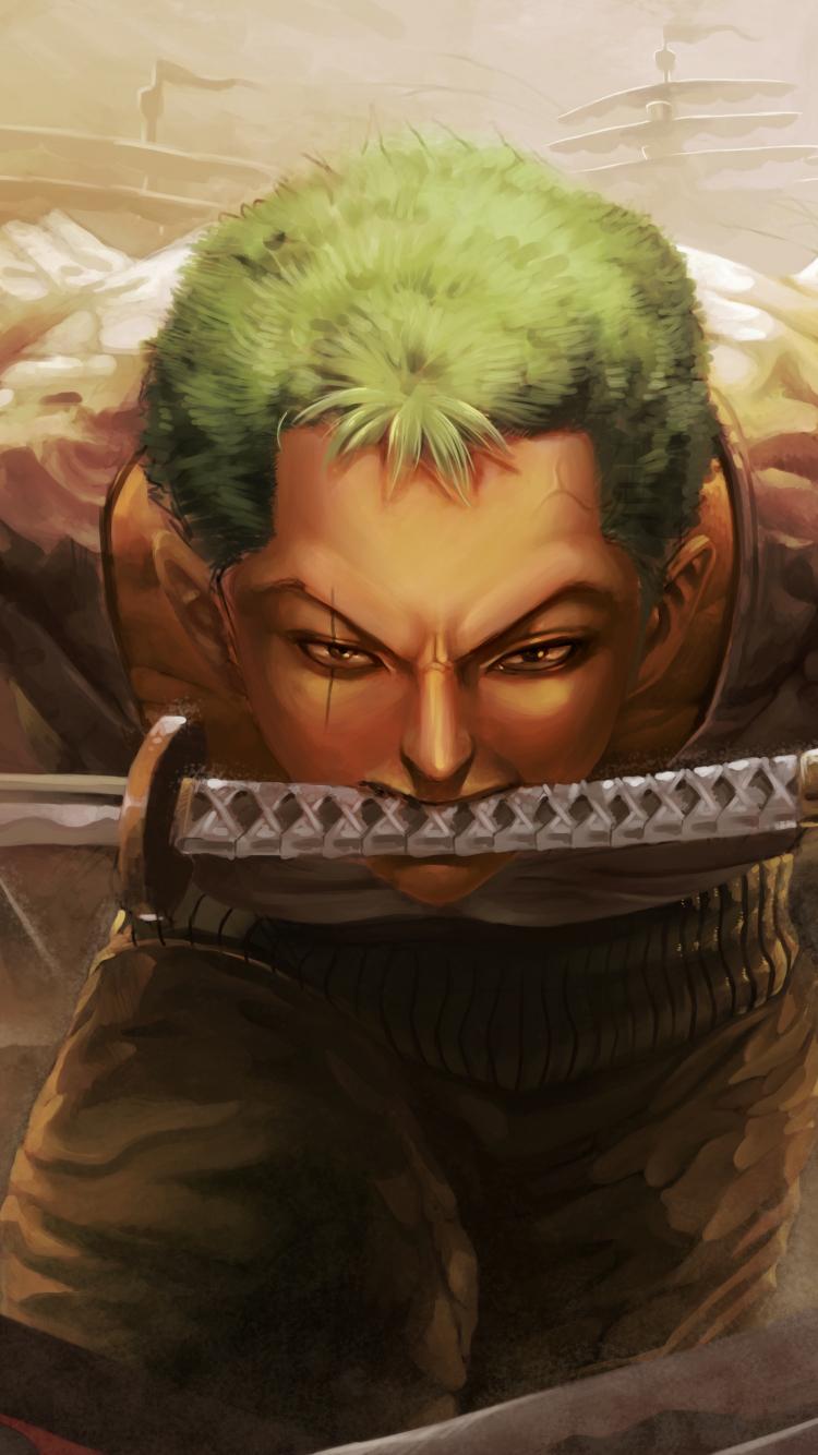 Download 750x1334 Wallpaper Roronoa Zoro One Piece Katana