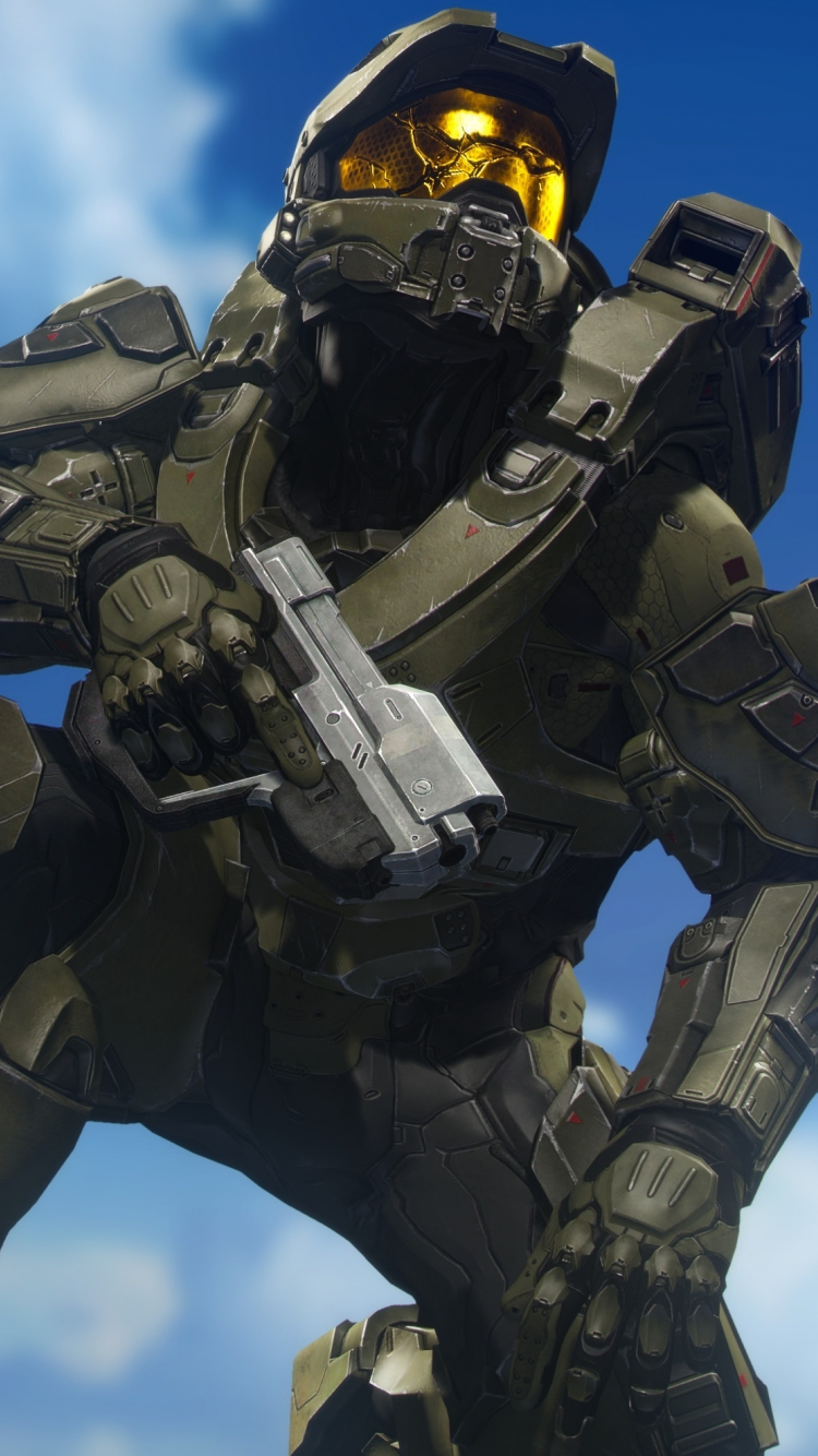 Download 750x1334 Wallpaper Master Chief Halo Video Game
