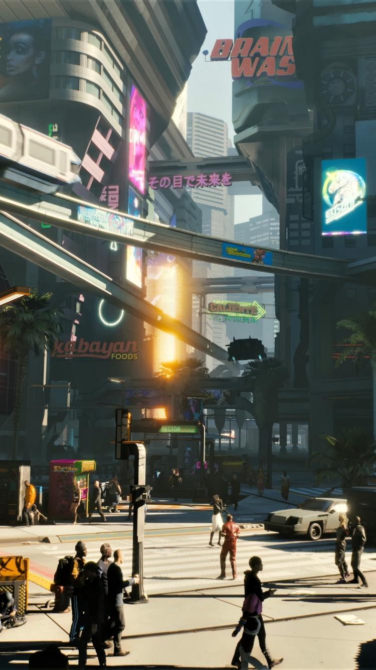 Download 750x1334 Wallpaper Modern City Cyberpunk 2077