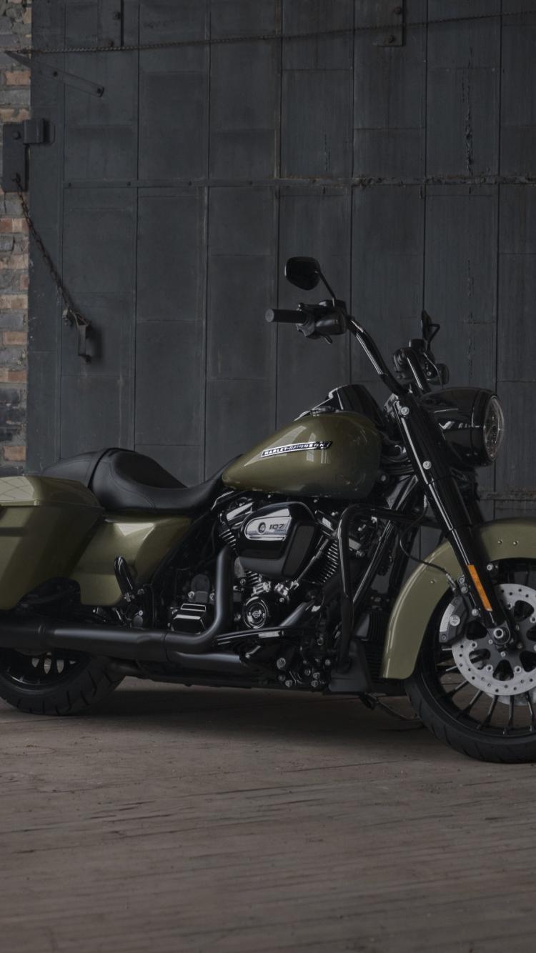 Download 750x1334 Wallpaper Dark Green 2018 Harley