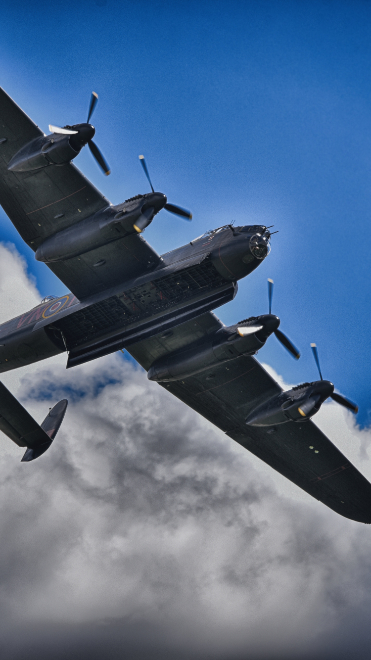 Download 750x1334 Wallpaper Lancaster Bomber Avro Lancaster