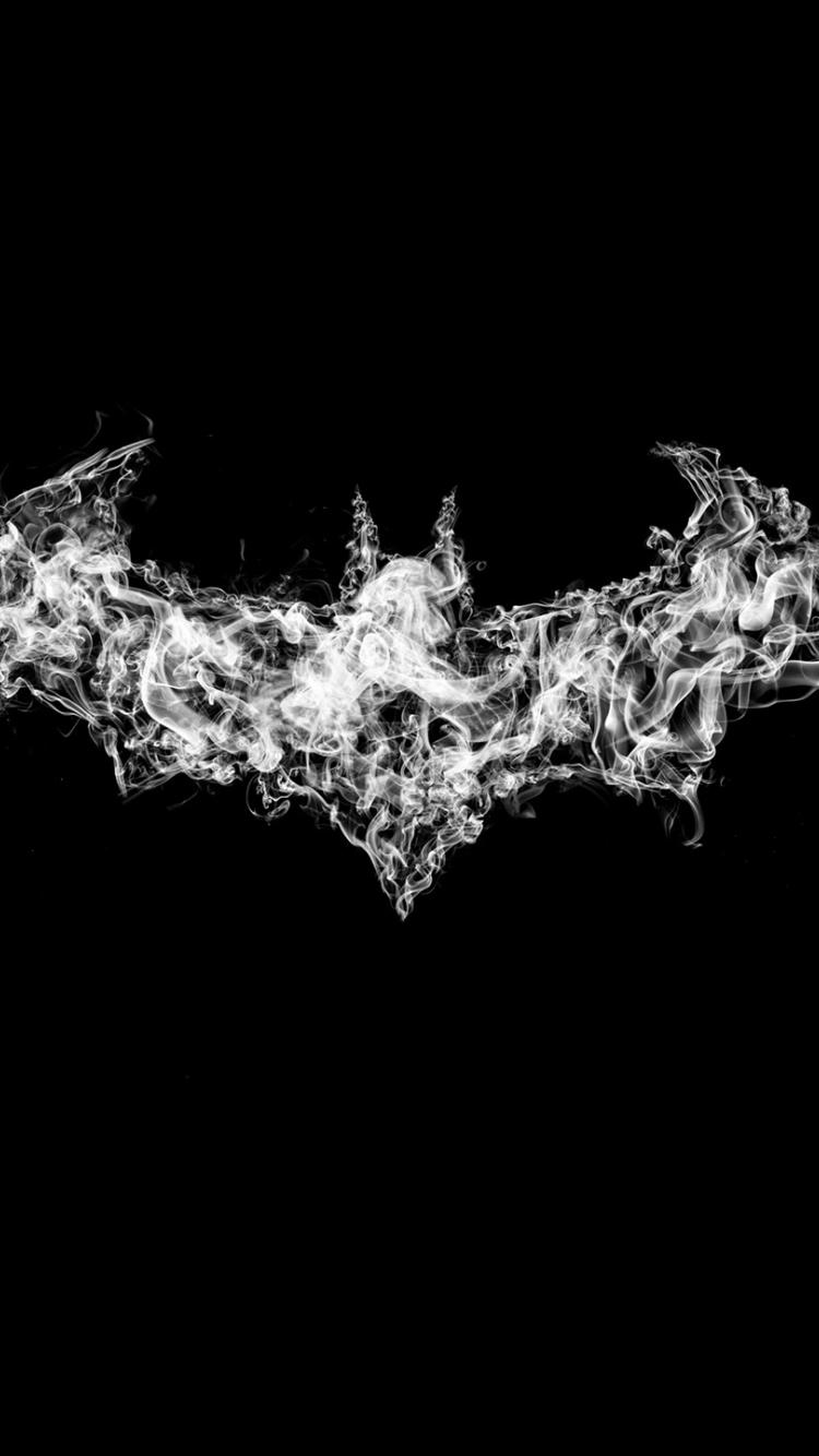 Batman Logo Smoke Art 750x1334 Wallpaper
