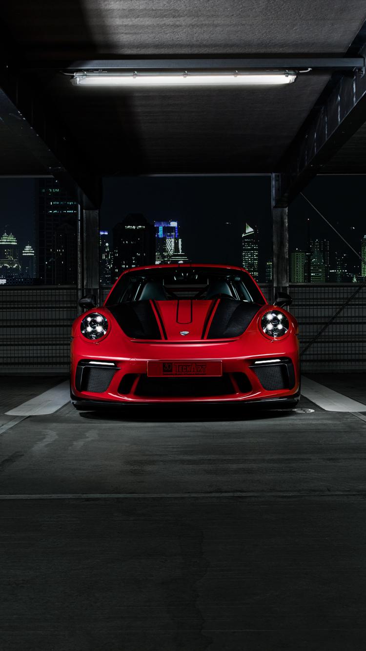 Download 750x1334 Wallpaper Porsche 911 Gt3 Sports Techart