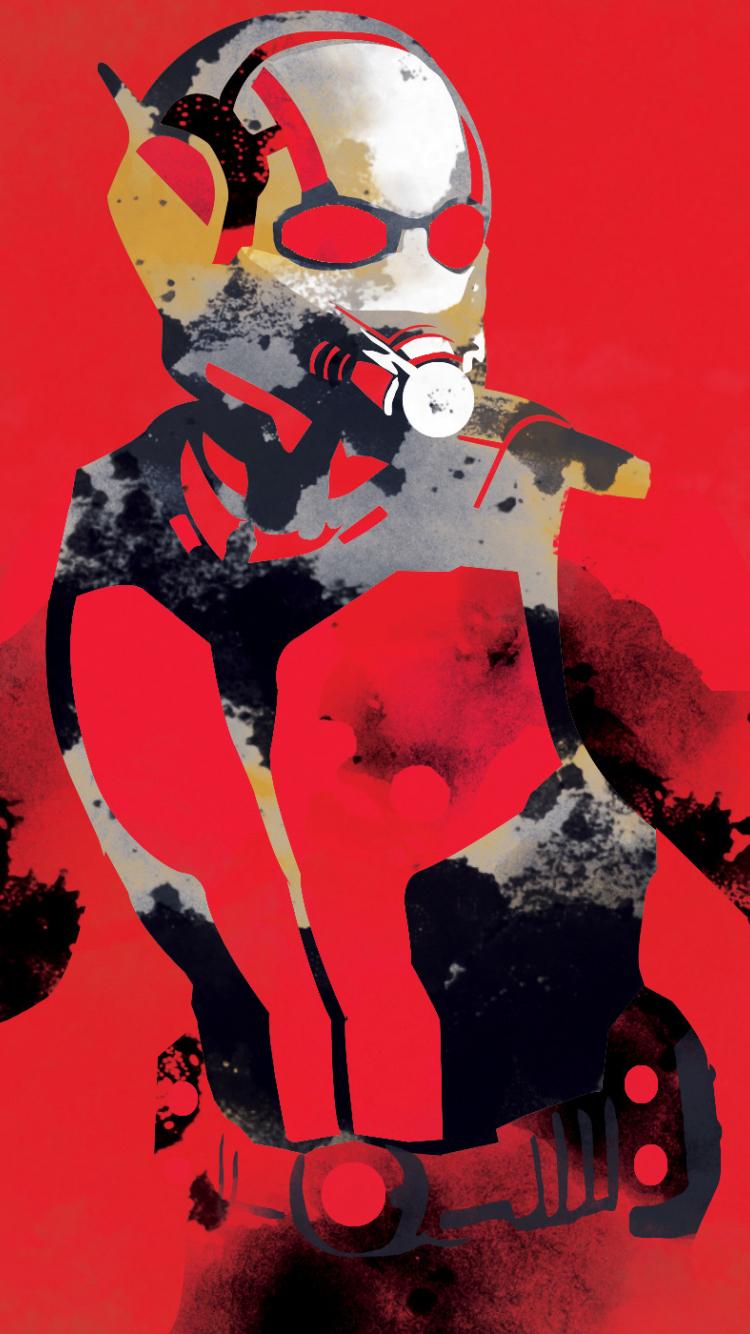 Ant Man Watercolor Art 750x1334 Wallpaper