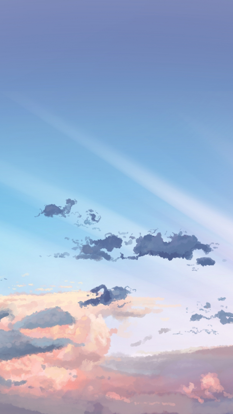 Download 750x1334 wallpaper sky, clouds
