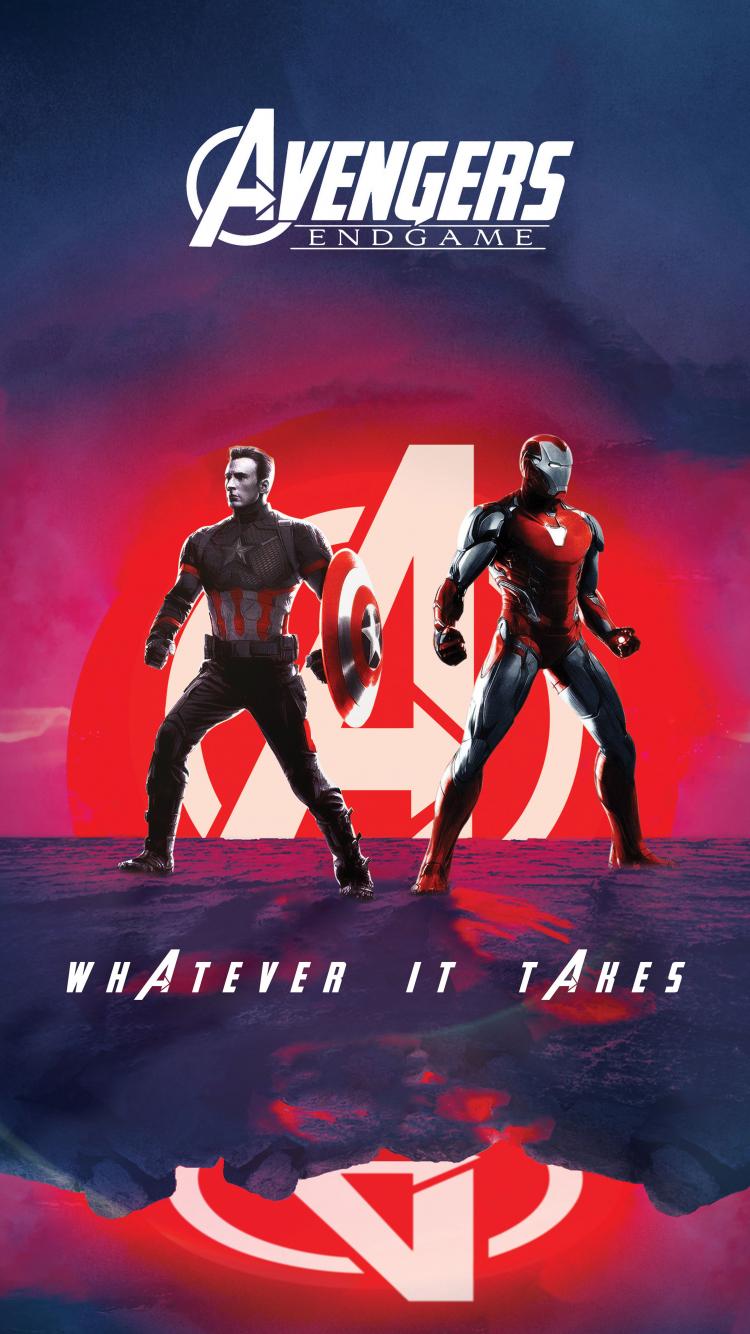 Download 750x1334 Wallpaper Captain America Iron Man