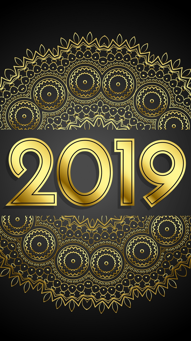 Download 750x1334 wallpaper 2019 new year, abstract, iphone