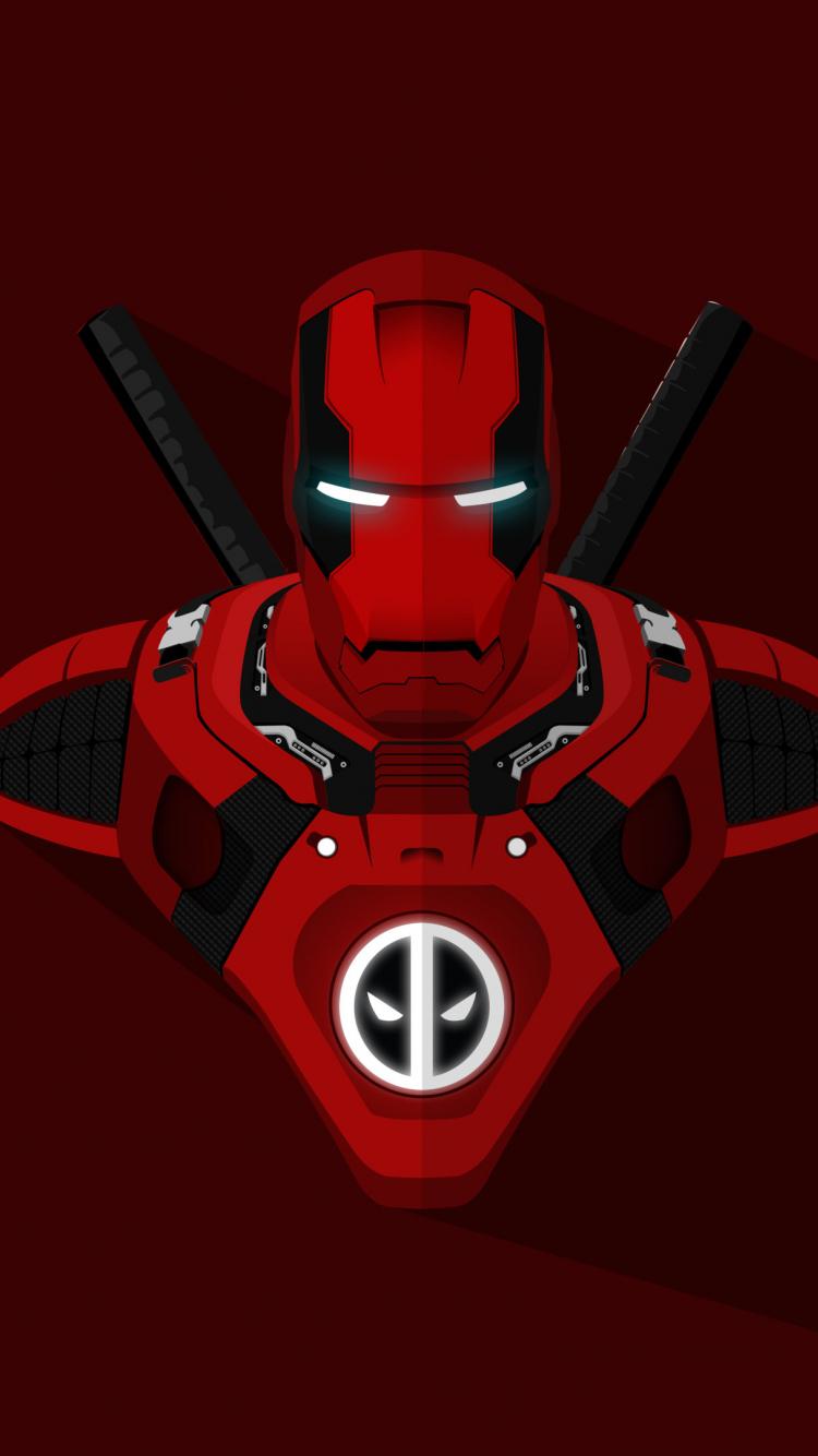 Top Wallpaper Marvel Iphone 7 - iron-man-deadpool-crossover-4k  Pic_316450.jpg