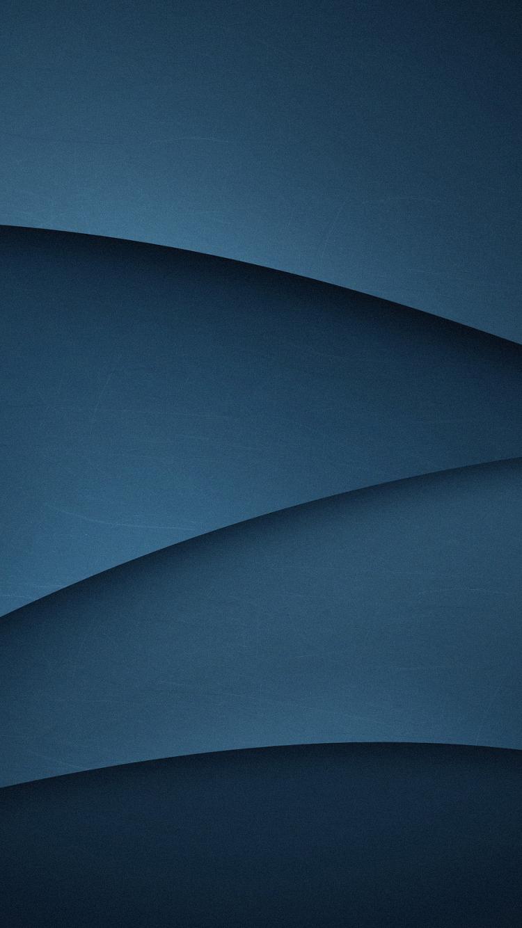 Dark Blue Gradient Abstract Wave Flow Minimalist 750x1334 Wallpaper