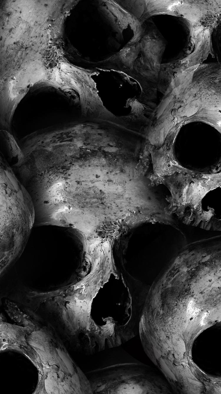 Download 750x1334 Wallpaper Scary Skulls Dark Iphone 7