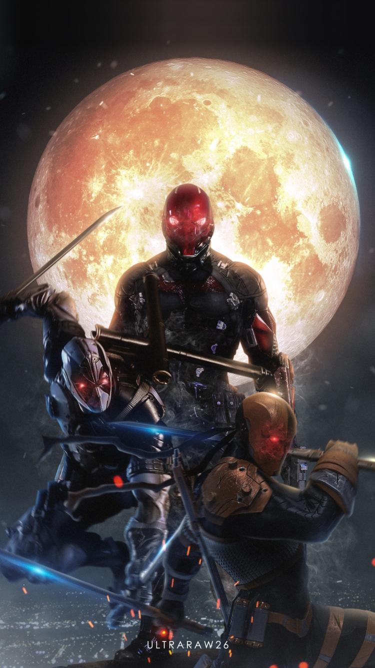 Download 750x1334 Wallpaper Red Hood Deadpool Deathstroke Villains Art Iphone 7 Iphone 8 750x1334 Hd Image Background 10793