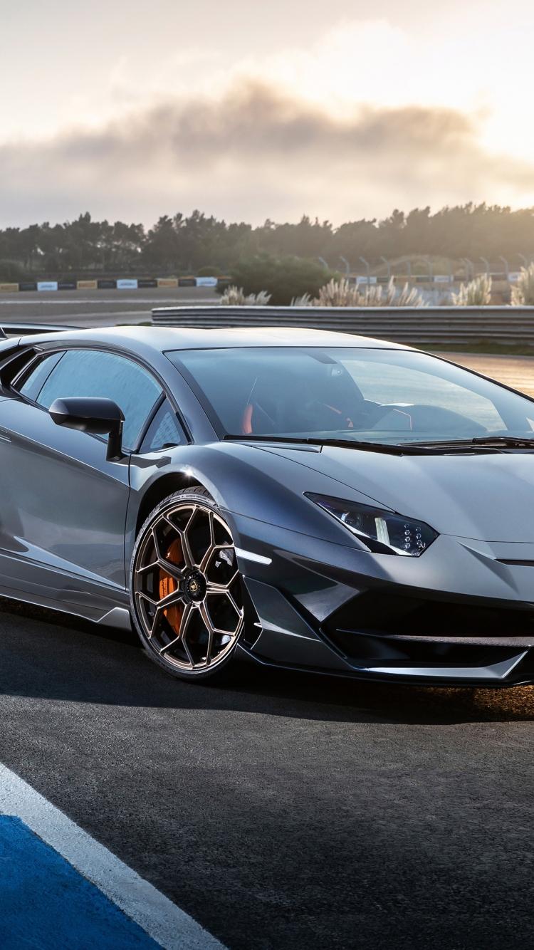 Download 750x1334 Wallpaper Lamborghini Aventador Svj Sports Car