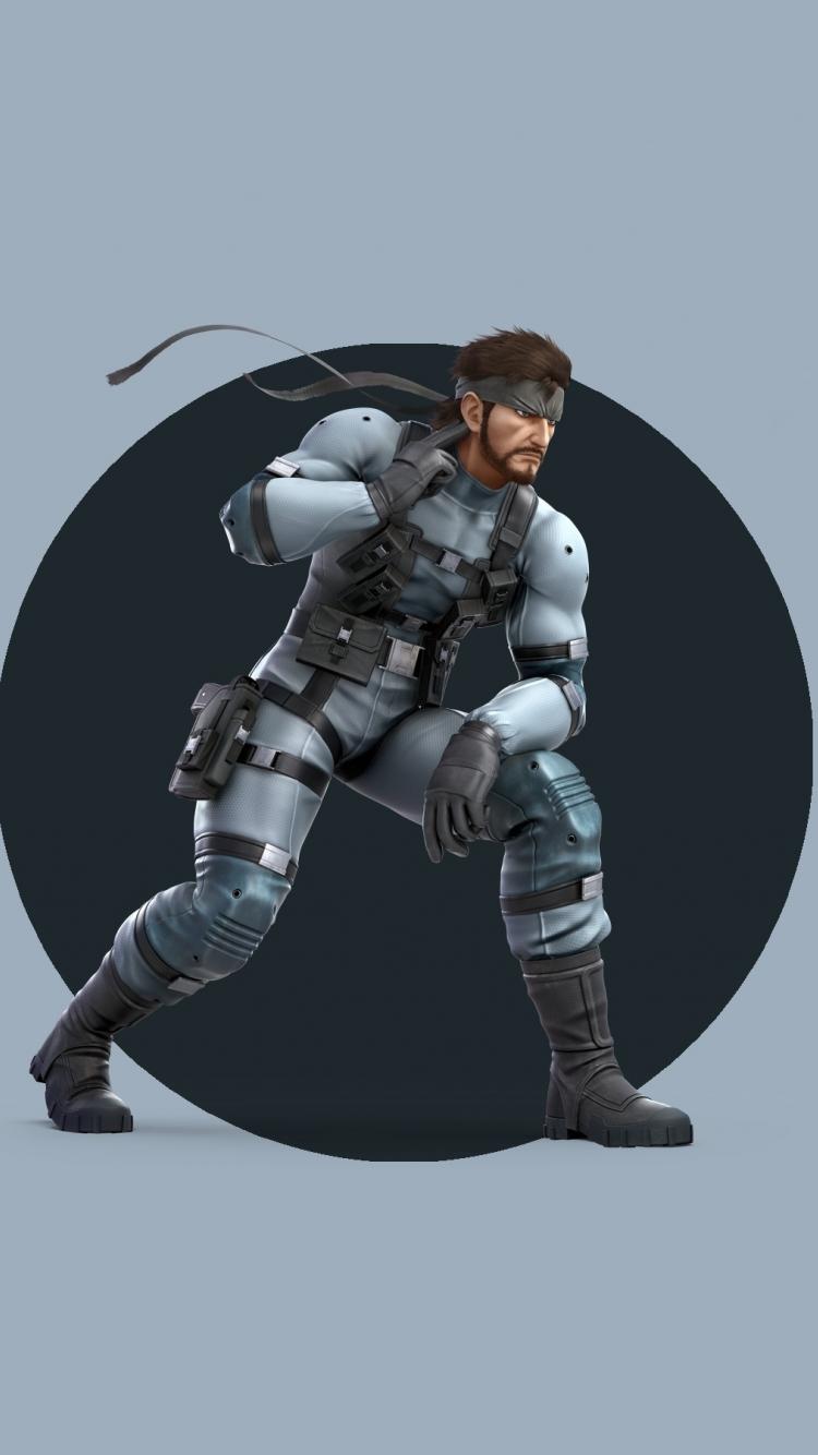 Download 750x1334 Wallpaper Solid Snake Super Smash Bros