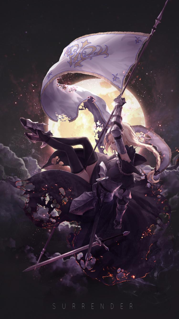 Download 750x1334 Wallpaper Jeanne D Arc Fate Series Banner