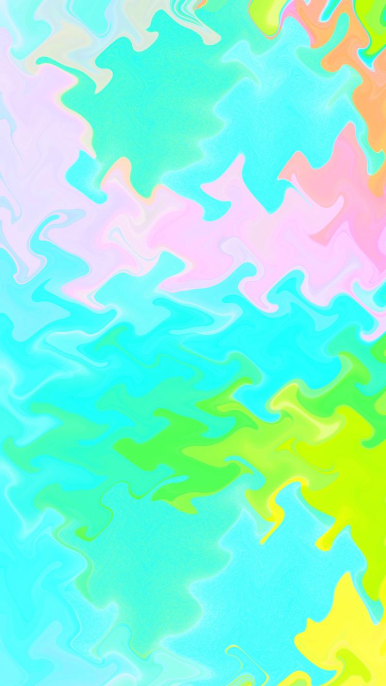 Download 750x1334 Wallpaper Vivid Colors Liquid Colorful