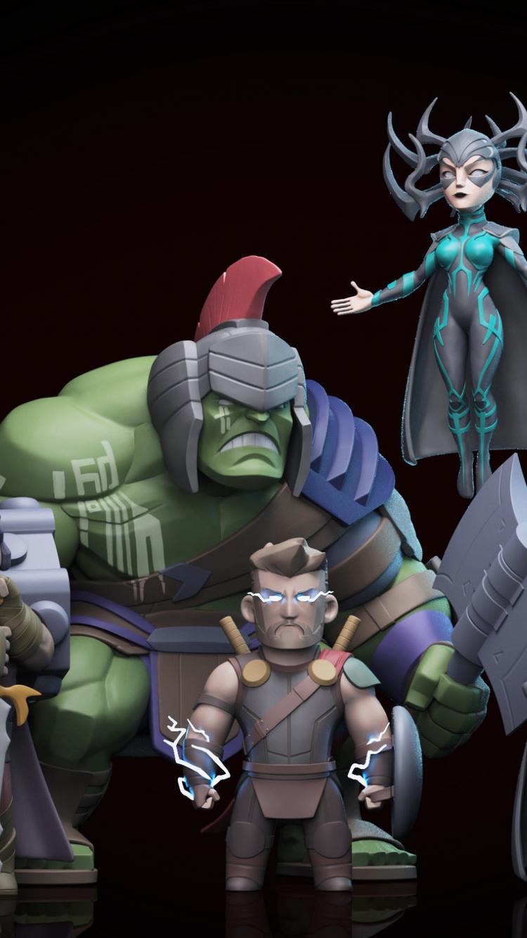 Download 750x1334 Wallpaper Thor Ragnarok Hulk And Thor Movie