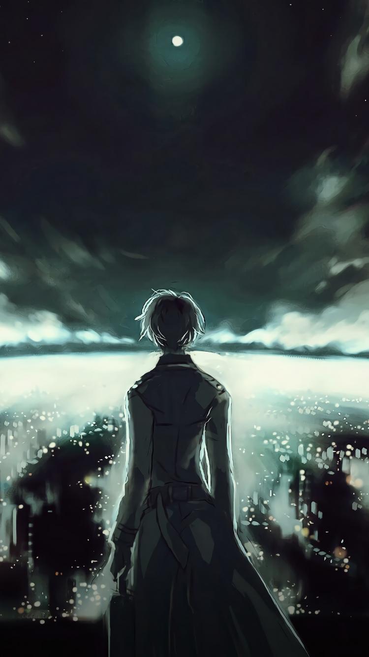 Download 750x1334 Wallpaper Ken Kaneki Tokyo Ghoul Anime Dark