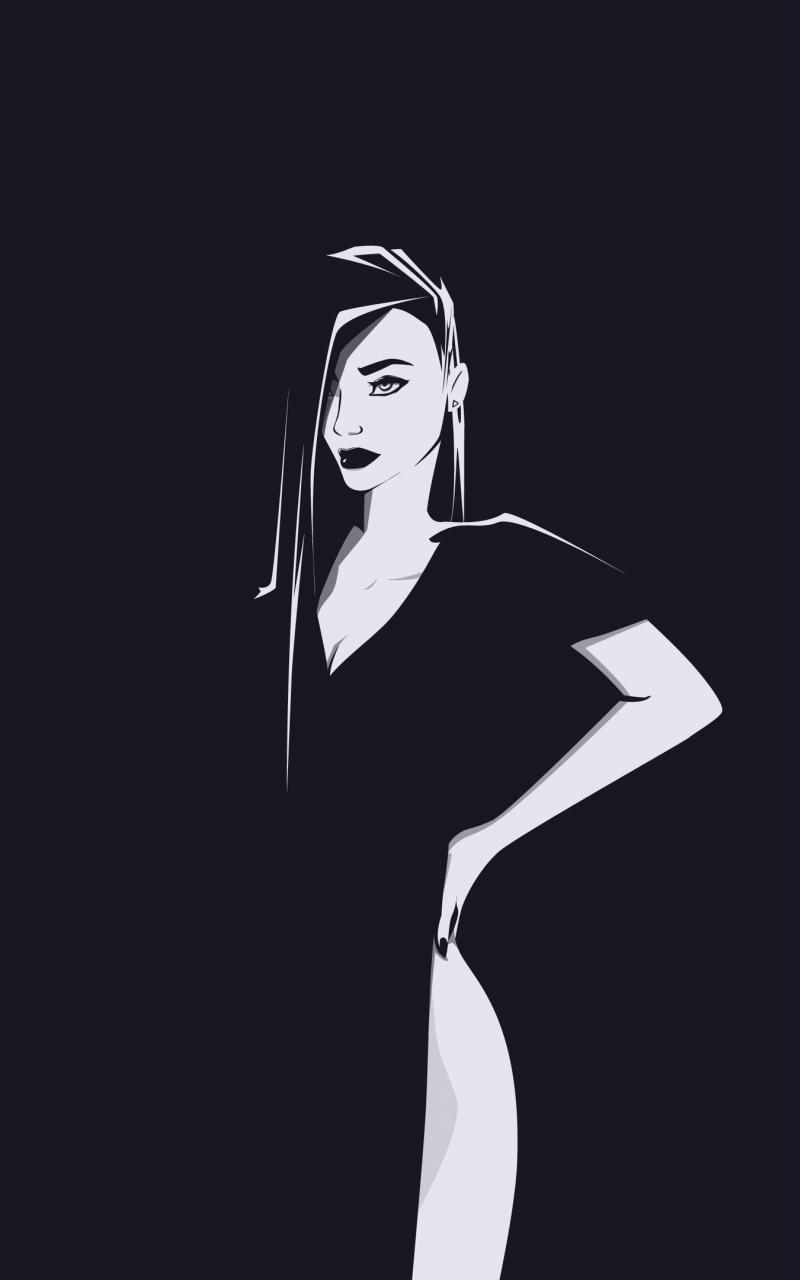 Minimal, urban woman, art, 800x1280 wallpaper