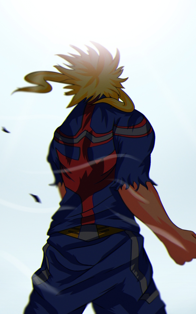 Download 800x1280 Wallpaper All Might My Hero Academia