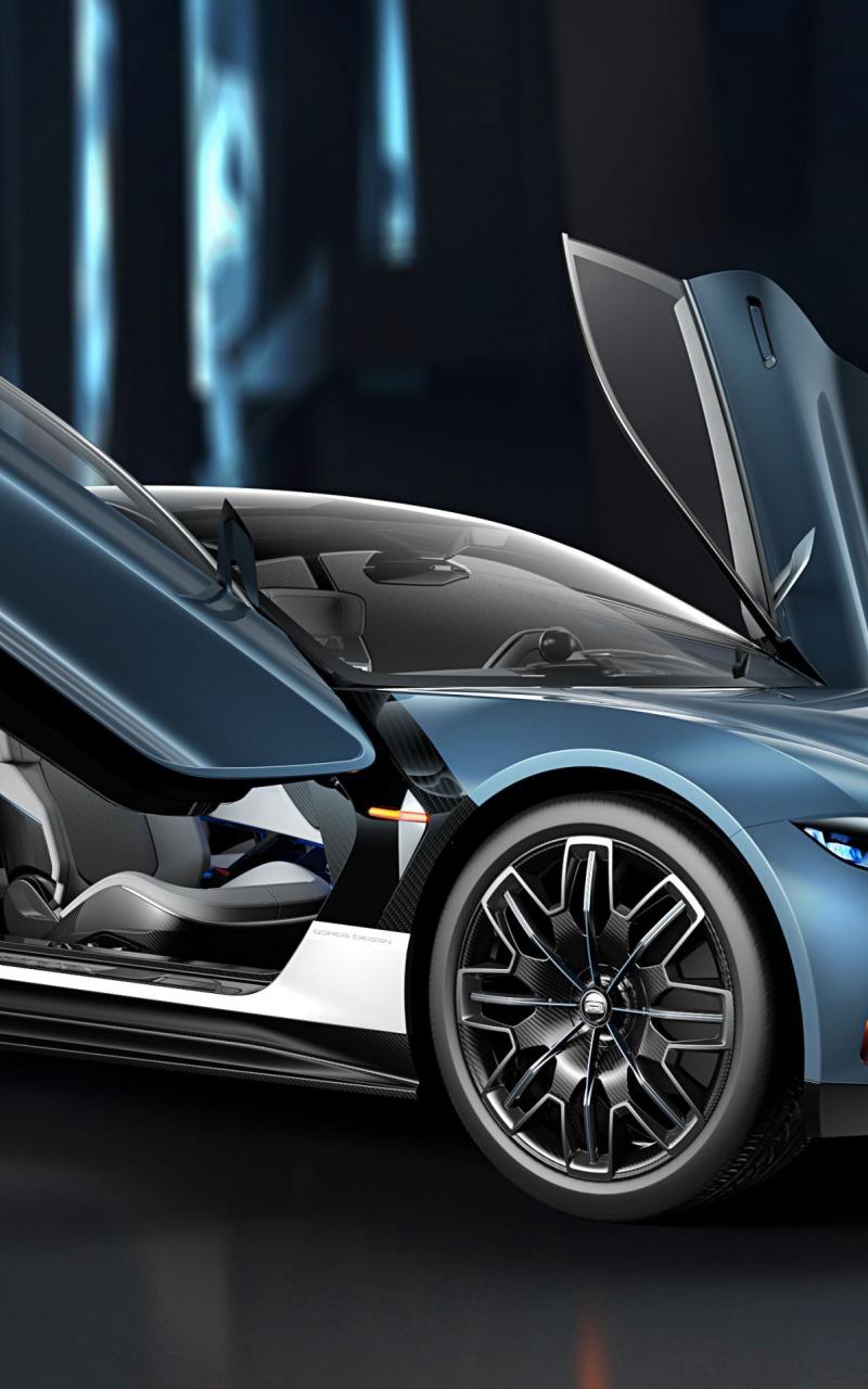 Qoros MILE 1, Doors Open, Concept Car, 2018, 800x1280 Wallpaper